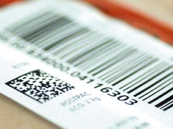 Esempio di etichetta parlante con barcode e QR code