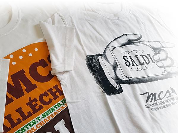 T-Shirt promozionali prodotte per la campagna saldi